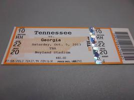 Georgia Bulldogs vs Tennessee Volunteers 10-5-2013  Football Game Ticket... - $3.12