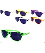 Marijuana Sunglasses Black Lenses Weed Hemp Assorted Frame Colors - $8.39