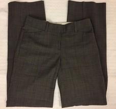 Ann Taylor Window Pane Plaid Gray Dress Pants Career Size 0 - $16.99