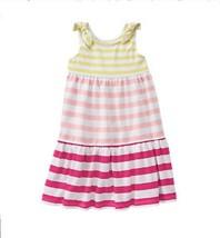 GYMBOREE NWT Yellow Pink Stripe ColorBlock Maxi Dress Size 6-12 Months B... - $14.84