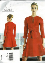 Vogue 1317 Dress Pattern Designer Ralph Rucci Low Neckline Slit Size B5 ... - $8.42