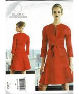Vogue 1317 Dress Pattern Designer Ralph Rucci Low Neckline Slit Size B5 ... - $8.42