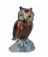 Owl figurine vtg sculpture Goebel Hummel Western Germany 3830308 perch 1... - $39.55