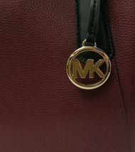 Michael Kors Cartella Top Manico Merlot pelle Rossa Kimberly Bag image 4
