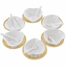 6PCS Small Porcelain Ramekins Condiment Dishes with Spoons, Ceramic Dipp... - $430,52 MXN