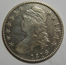 1818 Capped Bust Half Dollar 50¢ Coin Lot# MZ 4405