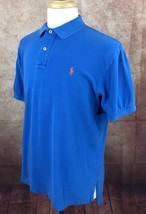 Polo Ralph Lauren Short Sleeve Mesh Blue 100% Cotton Polo Shirt Men's L - $16.82