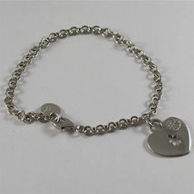 925 SILVER, AQUAFORTE BRACELET, HEART CHARMS, RHODIUM SILVER, FACETED ZIRCONIA. image 3