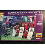 ZVEZDA 1/72 44 PLASTIC FIGURES SAMURAI ARMY/INFANTRY XVI-XVII AD NO 8017  - $8.46