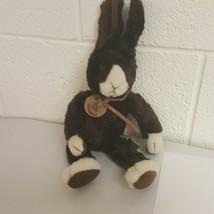 Russ Berrie Heartcraft Collection Plush Fudge Bunny Rabbit Brown Stuffed... - $15.83