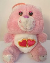 "Vintage Care Bears Lots Of Love Pink Hearts Plush 6"" - $11.87"