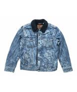 Levis x Justin Timberlake Mens M Sherpa Denim Jean Trucker Jacket Red Ta... - $118.75