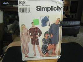 Simplicity 9291 Adult's Pajamas, Nightshirts, Nightcap & Bag Pattern - S... - $5.93