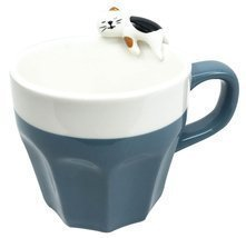 Cute Feline Kitten Sleeping Calico Kitty Cat Ceramic Mug Coffee Cup Home... - £15.77 GBP
