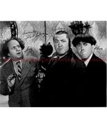 THE THREE STOOGES CAST SIGNED AUTOGRAPHED 8x10 RP PHOTO LARRY CURLY AND MOE - $17.99