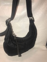 Coach Shoulder Purse handbag - Black Nylon With Leather Trim C3K-6668. Z32 - $25.62