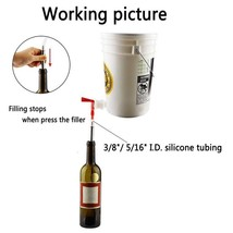 "13.7"" Wine Beer Bottle Filler Bottling Steel Spring Loaded Home Brewing ... - $23.46"