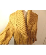 Wome M L 12 14 16 Cardiga Coat Butto Jacket Knit Sweater Shawl Solid Lon... - $32.92