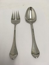 CAPELLO Oneida Stainless Steel Glossy Flatware Serving Set Spoon & Fork GUC - $27.87