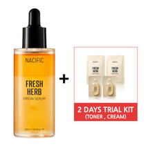 [ NACIFIC ]  Fresh Herb Origin Serum 1.69 fl.oz with Trial Kit (Toner, Cream) - $15.64