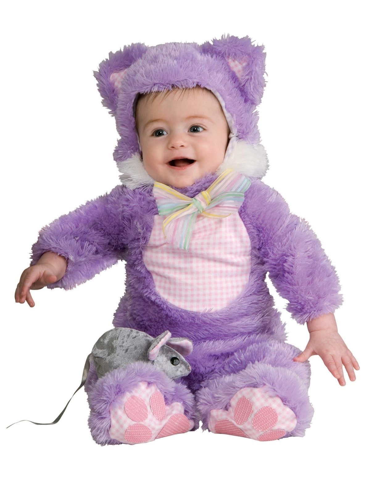 Adorable Plush Inky Black Cat or Purple Kuddly Kitty Infant Costume Rubies 6-18M