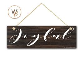 "JOYFUL Sign, 5.5""x17"" Wood Sign, Rustic Home Decor, Inspirational Wall D... - $20.25"