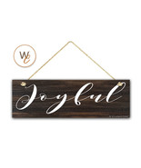 "JOYFUL Sign, 5.5""x17"" Wood Sign, Rustic Home Decor, Inspirational Wall D... - $20.25"
