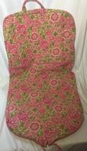 Vera Bradley Floral Garment Bag Retired Pink & Green Travel - $29.99