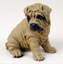 SHAR PEI (Brown) DOG Figurine Statue Painted Resin Figure - $17.25