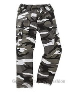 MENS US M65 STYLE COMBAT TROUSER ARMY CARGO BDU MILITARY RANGER WORK CAM... - $22.96