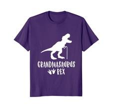 New Tee -  Grandmasaurus Funny Cute T Shirt Dinosaur Rex Grandma Family Men - $19.95+