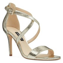New Nine West Silver Leather Stiletto Sandals Size 8 M $89 - $47.99