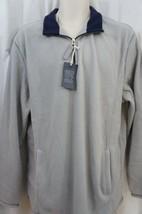 Club Room Mens Sweater Sz L Silver Grey Combo Classic Fleece Half Zip Ca... - €21,64 EUR