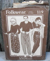 Folkwear 119 Sarouelles Unisex Pants Turkey Africa India Sewing Costume ... - $20.00