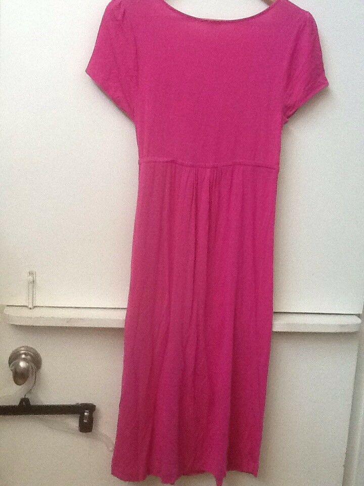 J Crew Pink Stretchy Rayon Jersey Knit Cross Body Dress Drawstring Waist S Small image 3