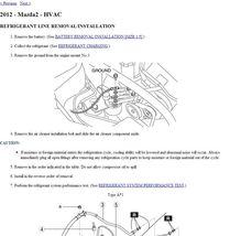 2011-2013 Mazda2 Factory Repair Service Manual - $1.00