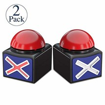 Beanlieve Game Buzzers with Sound - 2 Pack Buzzer Button with Lights, Game Show