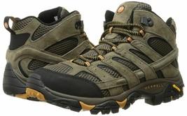 Merrell Mens Moab 2 Mid Vent Hiking Boot Walnut sz 10 W Wide Width NEW IN BOX - $99.95