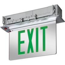 Lithonia Lighting Led Recessed Edge-Lit Exit Sign, Green - $256.76