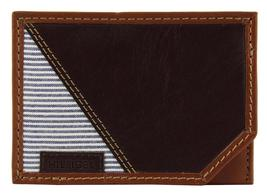 NEW TOMMY HILFIGER MEN'S PREMIUM LEATHER SLIM CARD CASE WALLET BROWN 4268-02 image 3
