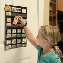 NEATLINGS Chore Chart System | 1 Child | 80+ Chore | Teal & Orange Cards image 2