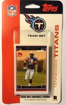 2006 Topps Tennessee Titans Team Set NIB Vince Young McNair Football Car... - $1.89