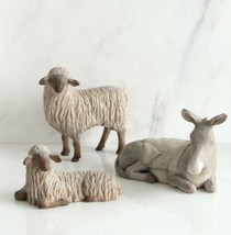 GENTLE ANIMALS THE STABLE FOR HOLY FAMILY HAND PAINTED WILLOW TREE SUSAN... - $158.40