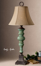 "BETTONA XXL 39"" TUSCAN CRACKLED AGED CERAMIC ACCENT TABLE LAMP UTTERMOST... - $222.20"