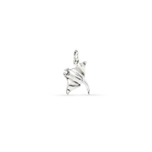 Primary image for Charm, 3D Manta Ray, Sterling Silver, 16.75x16.5, Pkg Of 1pc (10401)/1