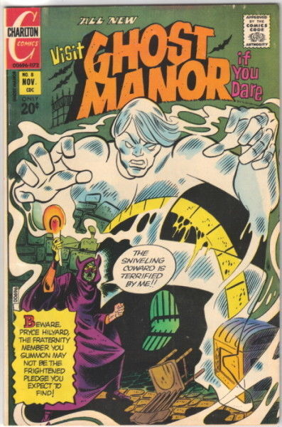 Primary image for Ghost Manor Comic 2nd Series #8, Charlton Comics 1972 VERY FINE-