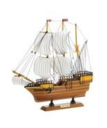 Historical MAYFLOWER SHIP Wooden Boat Coastal Nautical Decor - $26.99