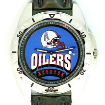 Huston Oilers NFL Fossil Man New Unworn Rare Vintage 1995 Watch Leather Band $79 - $78.06