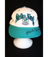 Strike King Lures Mark Davis Autograph Snapback Dad Fishing White/Green ... - $89.95