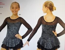 Mondor Model 669 Ladies Skating Dress - Black/Silver Size Adult Small - $105.00